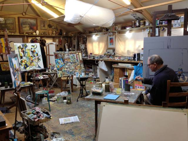Chris working in rosevine studio